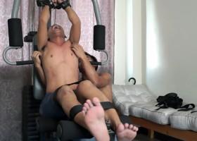 Warren Hog Tied And Gym Tickled