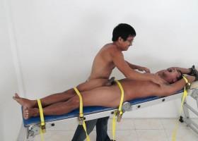 Jesse On The Tickling Rack