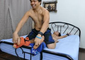 Vahn and Daddy Tickle Russel